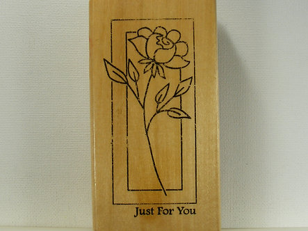 Anita's - Just For You Wood Mounted Rubber Stamp