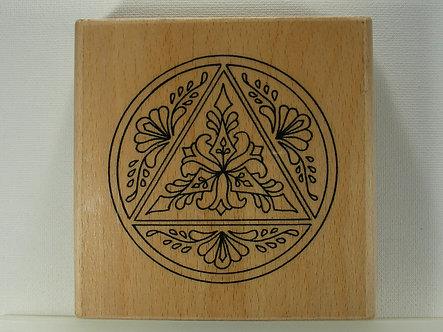 Unbranded - Floral Rubber Stamp