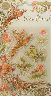 Craft Consortium - Woodland Birds Acrylic Stamps