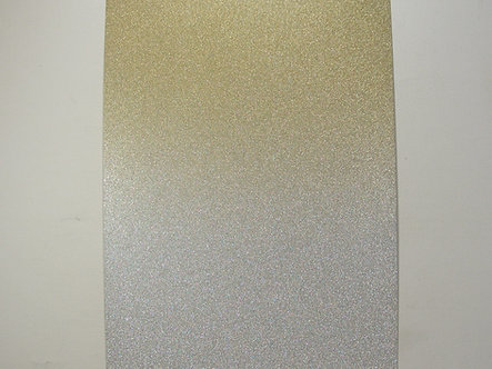 Luxe A4 Gold & Silver Ombre Glitter Card (Non Shed)
