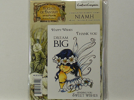 Crafters Companion - Flights Of Fantasy Niamh Rubber Stamp