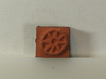 Unbranded - Cart Wheel Design Foam Mounted Rubber Stamp