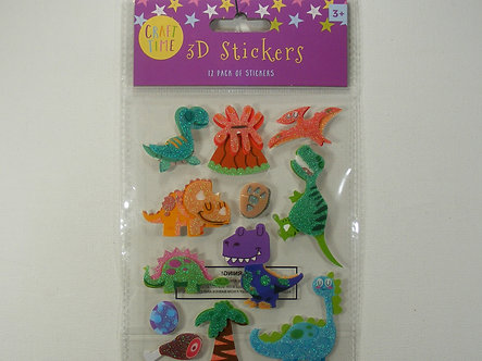 Craft Time - 3D Stickers Dinosaurs