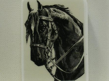 La Blanche - Horse Head Reigned Foam Mounted Rubber Stamp
