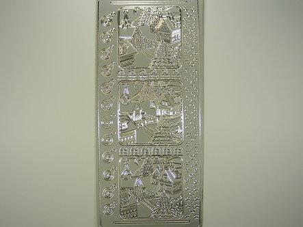 Christmas Peel Offs - Square Landscape (Silver)