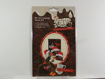 Naughty Puds - A5 Decoupage Card Kit
