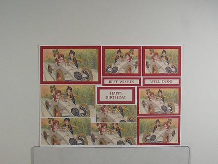 Vintage Style Decoupage Sheet. .