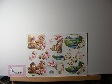 TBZ International - Floral Countryside Decoupage Sheet.