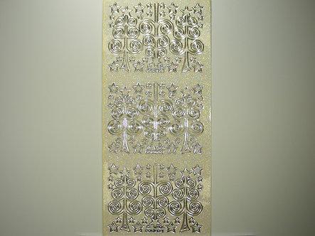Goldlabel - Christmas Glitter Peel Offs (Silver)