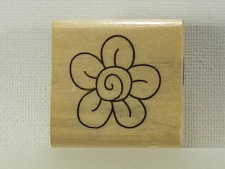 Anita's - Small Flower Wood Mounted Rubber Stamp