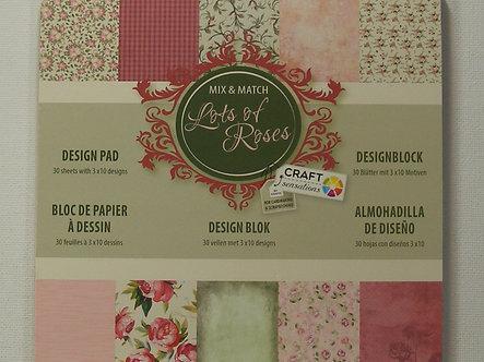 "Craft Sensations - Lots Of Roses 6"" x 6"" Paper Pad"