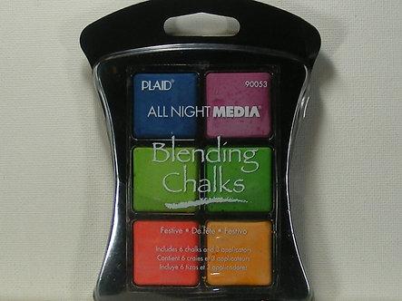 Plaid - All Night Media Blending Chalks - Festive