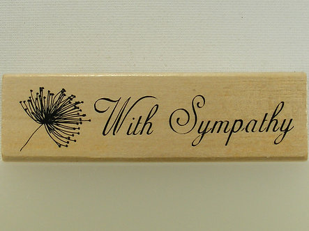 Anita's - With Sympathy Wood Mounted Rubber Stamp