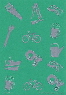 Art & Crafts Direct - Mini-Mens A5 Bkg Card (Green)