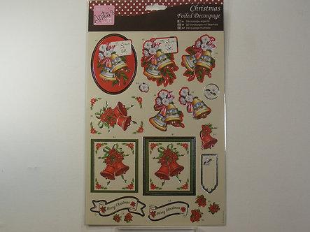 Anita's - Christmas Foiled Decoupage - Seasonal Chimes.