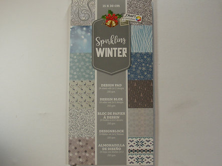 Craft Sensations - Sparkling Winter Paper Pad.