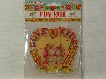 Helz Cuppleditch - Fun Fair Love Ride Clear Acrylic Stamps
