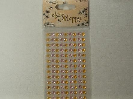 Dovecraft - Bee Happy Adhesive Jewels