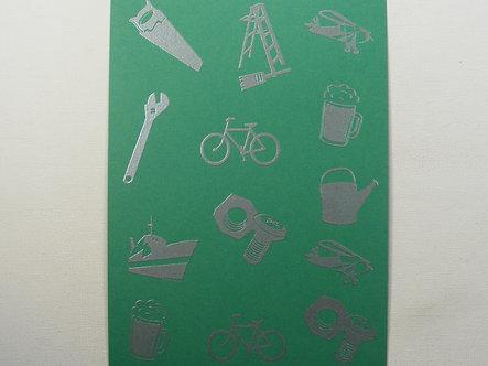 Art & Crafts Direct - Mini-Mens A5 Bkg Card (Green)