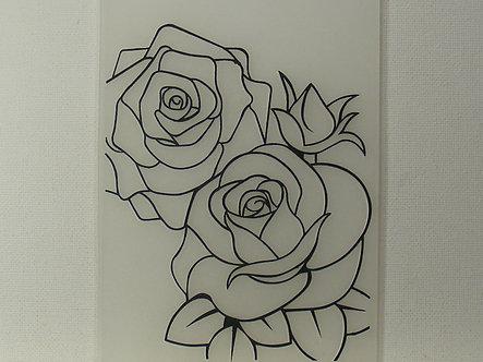 A6 Embossing Folder - Roses