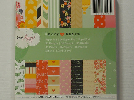 """American Crafts - Paper Pad 6"""" x 6"""" Dear Lizzy- Lucky Charm"""