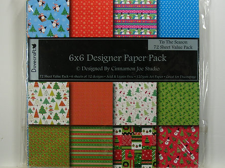 "Dovecraft - Tis The Season 6"" x 6"" Designer Pack"