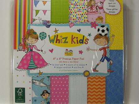 "Whiz Kids - 8"" x 8"" Premium Paper Pad."