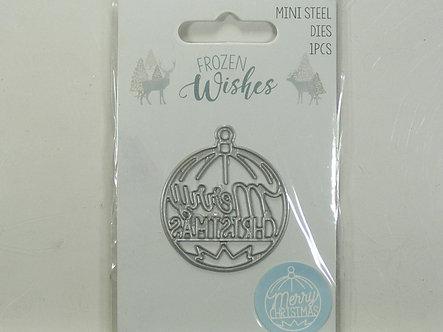 Hobbycraft - Frozen Wishes - Merry Christmas Mini Die