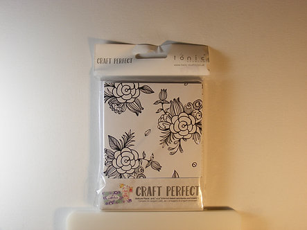 Tonic Studios - Foiled Card Blanks - Delicate Floral Set (Silver).