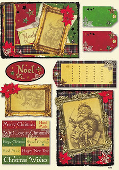 A4 Christmas Toppers And Tags Sheet