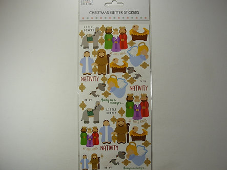 Simply Creative - Christmas Glitter Stickers.