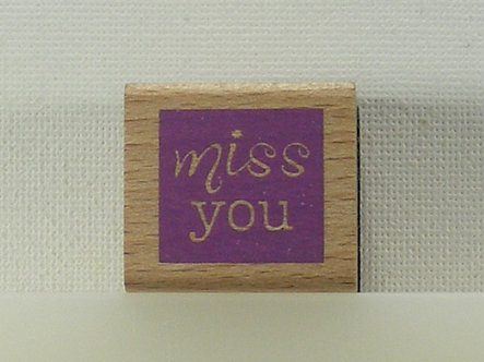 Unbranded - Miss You Rubber Stamp