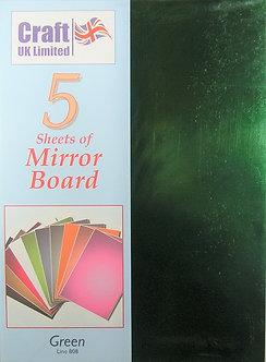 Craft UK - A4 Mirror Board Green.