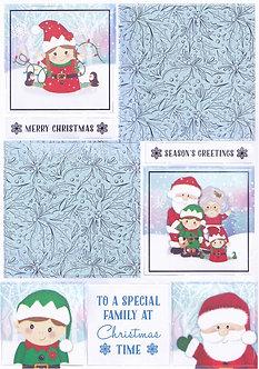 Kanban - Santa And Family Topper Sheet