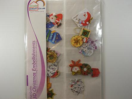 Create & Craft Club - 3D Christmas Embellishments