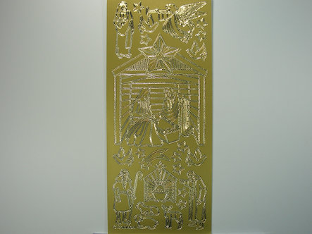 Goldlabel - Christmas Peel offs - Nativity (Gold)