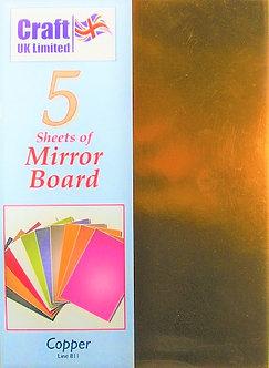 Craft UK - A4 Mirror Board Copper.