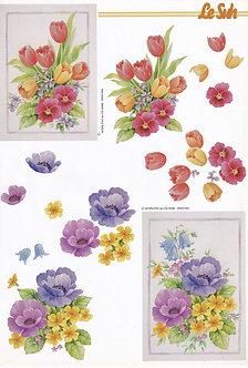 Le Suh 3D Decoupage - Floral Bouquet.