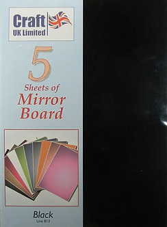 Craft UK - A4 Mirror Board Black.