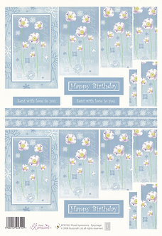 Buzzcraft - Floral Xpressions Decoupage Sheet.
