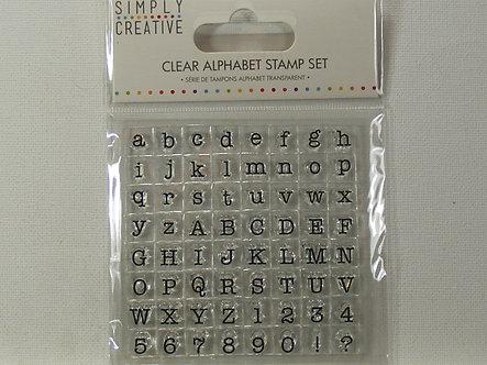 Simply Creative - Serif Font Alphabet Stamp