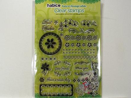 Habico - Large Border 2 Clear Stamp Set.
