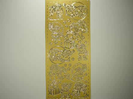 AP Crafts - Santa Peel Offs (Gold)