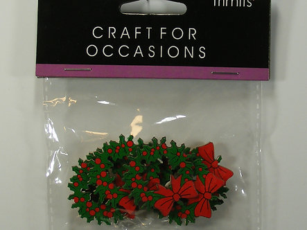 Trimits - Wooden Christmas Wreaths.