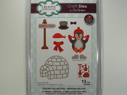 Creative Expressions - Festive Collection - Penguin Palace Dies