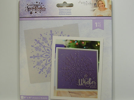 Crafters Companion - Glittering Snowflake Collection - Frosted Elegance Embossin