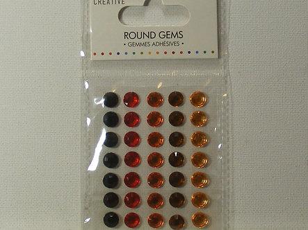 Simply Creative Black, Red, Orange, Brown & Gold Gems