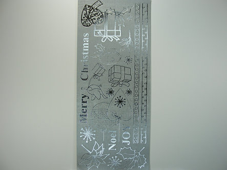 Christmas Peel Offs - Sentiments & Icons (Silver)