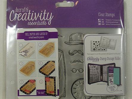 Docrafts - Creativity Essentials Mister A6 Clear Stamp Set