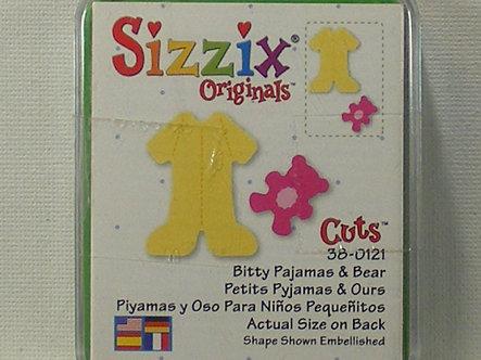 Sizzix - Bitty Pyjamas & Bear Die